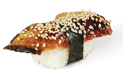 Суши с копчёным угрём